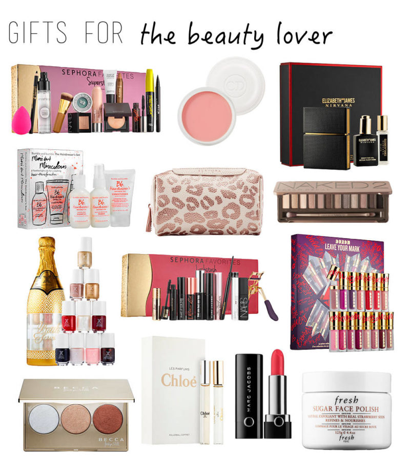 Gift guide beauty love